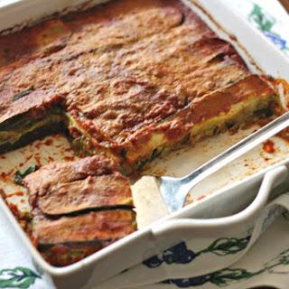 Grain-Free, Vegan Layered Vegetable Lasagna.