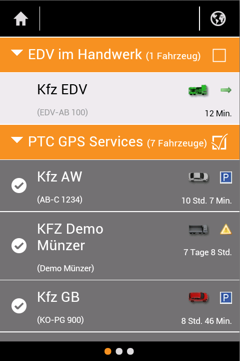 PTC GPS- screenshot