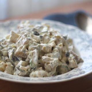 Garlic and Thyme Potato Salad with Leeks