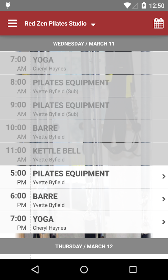 Red Zen Pilates Studio- screenshot