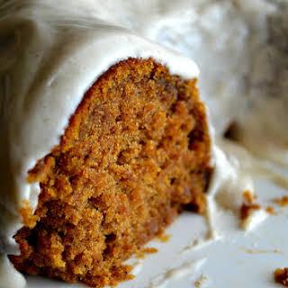 Pumpkin Spice Buttermilk Cake with Cinnamon Cream Cheese Frosting.
