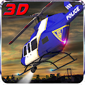 911 Polizei Helicopter Sim 3D icon