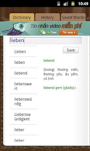 German Vietnamese Dictionary - screenshot thumbnail