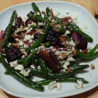 Roasted Beet, Green Beans and Olive Salad.