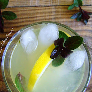 Ginger and Mint Lemonade.