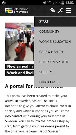 Information om Sverige