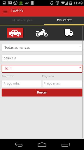 Tab FIPE - Preço automóvel