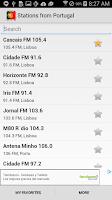 Screenshot of Radio Portugal