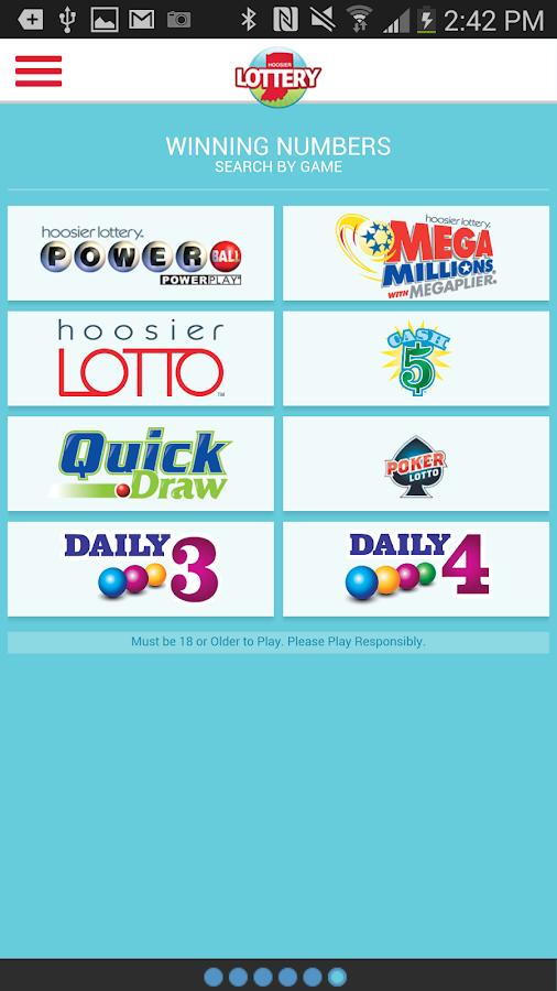 Hoosier Lotto Numbers