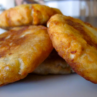 Sweet Potato Fritters with Prawn-Coconut Filling.