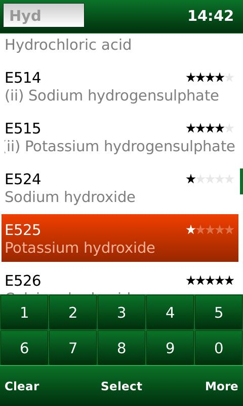 E-Codes: Food Additives - screenshot