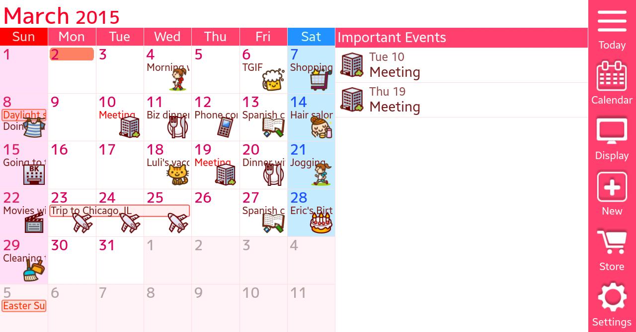 Jorte Calendar & Organizer - screenshot