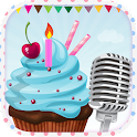 send Happy Birthday + voice icon