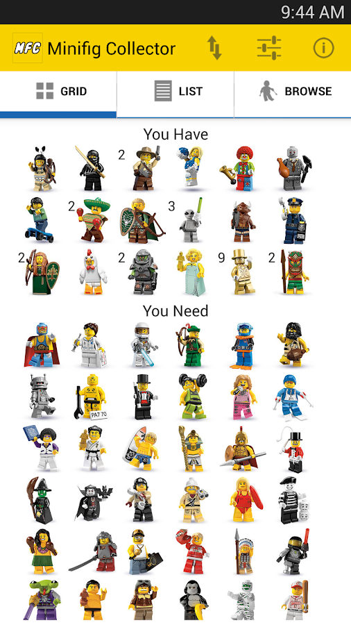 Minifig Collector - screenshot