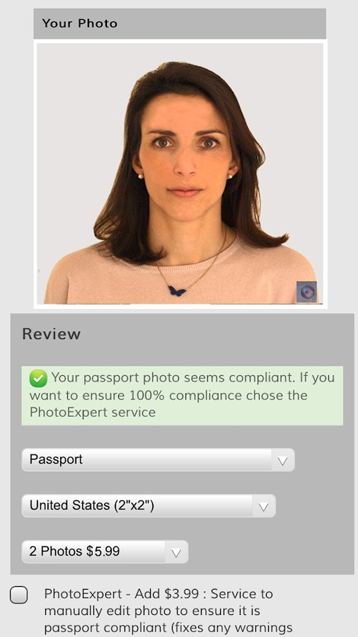 My Passport Photos: ID photos- screenshot
