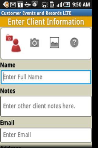 Customer Events & Records CRM - screenshot