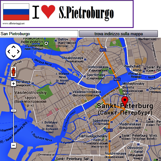 Sankt Peterburg map