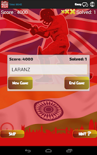 Hangman Intl' Cricket Players - screenshot thumbnail