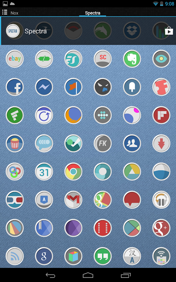 Spectra icon theme - screenshot