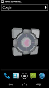 Companion Cube 3D (HD) LWP - screenshot thumbnail