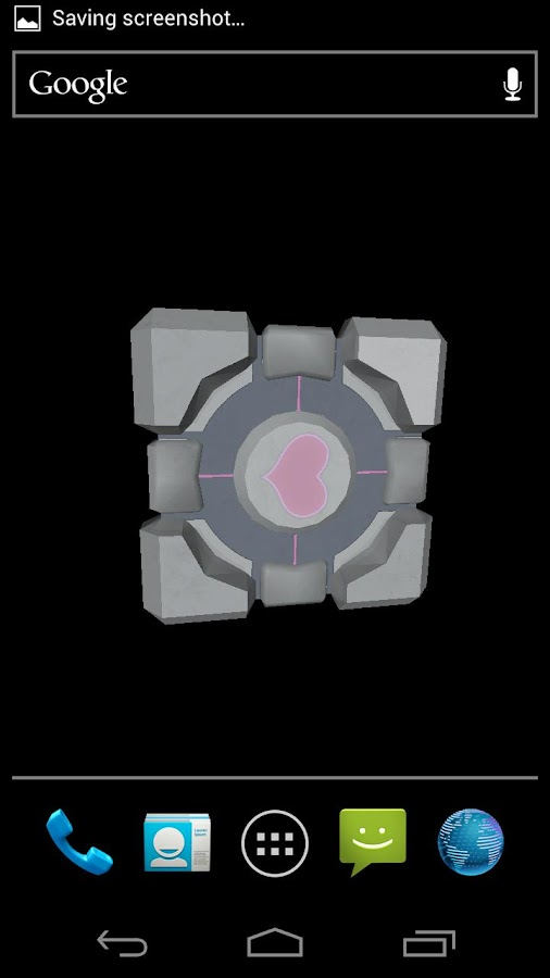 Companion Cube 3D (HD) LWP - screenshot