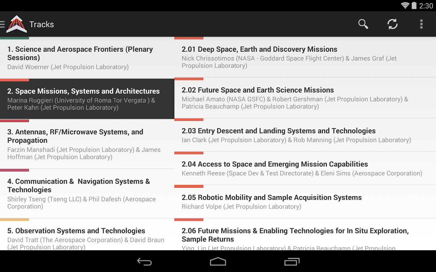 2014 IEEE Aerospace Conference - screenshot