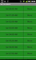 Screenshot of Alarm Clock WHEEL LIST am pm