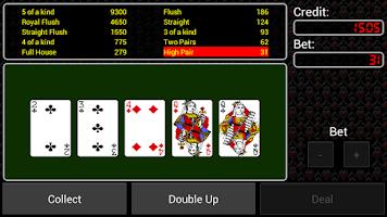Screenshot of Video Poker