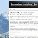 Common Sense Agriculture Blog logo