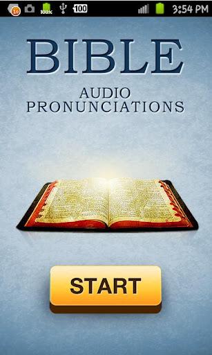 Bible Audio Pronunciations