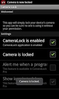 Screenshot of CameraLock