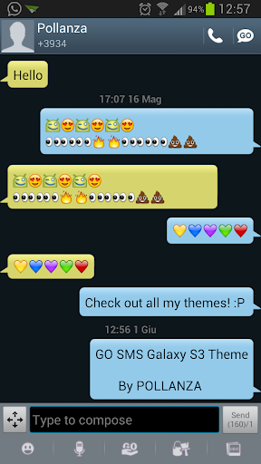 GO SMS Galaxy S3 Theme
