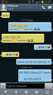 GO SMS Galaxy S3 Theme - screenshot thumbnail
