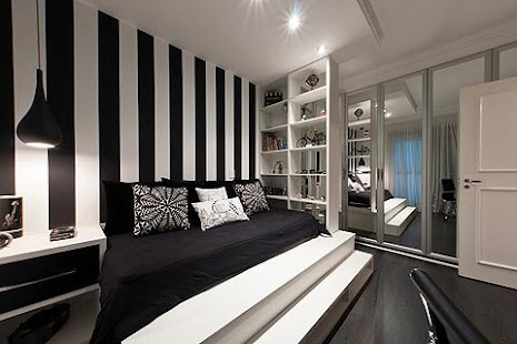 Interior Black And White Themed Room black white bedroom ideas android apps on google play screenshot thumbnail