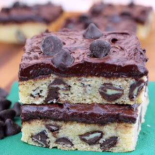 Dark Chocolate Mint Cookie Bars