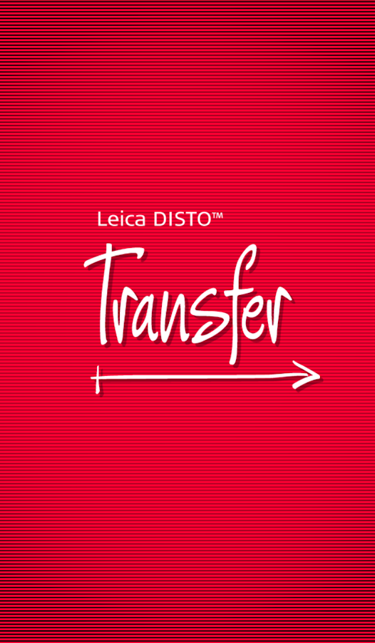 Leica DISTO™ transfer BT LE- screenshot