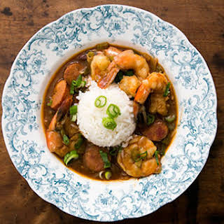 Shrimp Gumbo with Andouille Sausage.