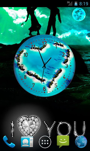 【免費個人化App】Love Clock Live Wallpaper-APP點子