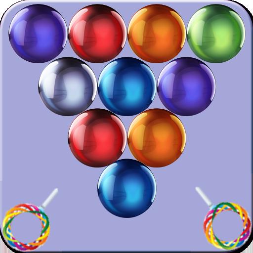 街机の古典的なバブルのシューティングゲーム LOGO-記事Game