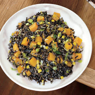 Wild Rice with Butternut Squash, Leeks, and Corn.