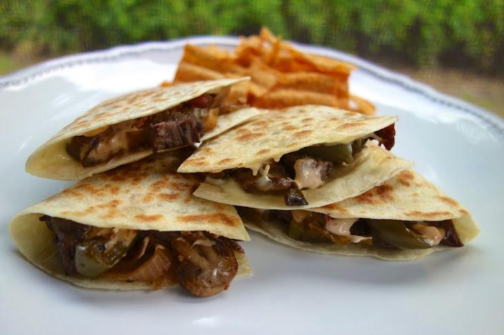 Chipotle Cheesesteak Quesadillas Recipe