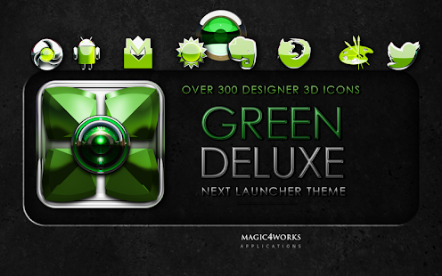 Next Launcher Theme Green D