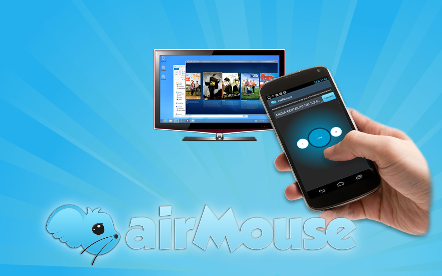 AirMouse! Wifi pointing mouse- screenshot