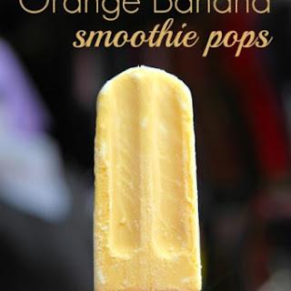 Orange Banana Smoothie Pops