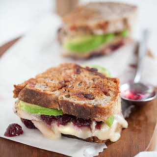 Turkey Cranberry and Grilled Brie Cheese Sandwich.
