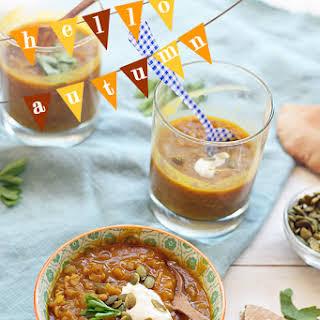 Curried Pumpkin Lentil Soup.