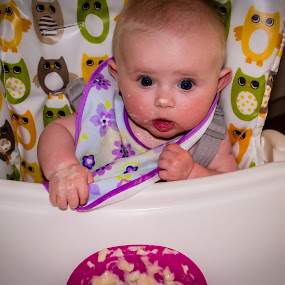 Dinnertime! by Craig Payne - Babies & Children Babies ( baby food, colourful, baby, hungry, messy )
