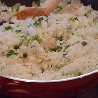 Lemon Rice with Capers and Parsley.