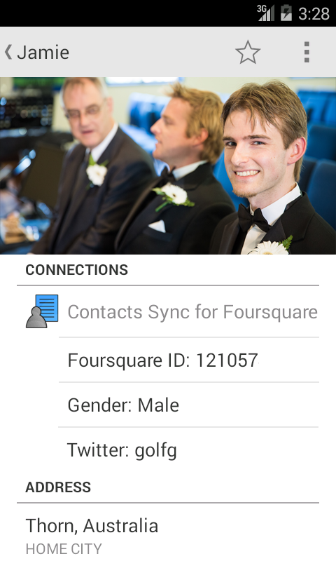 Contacts Sync for Foursquare - screenshot
