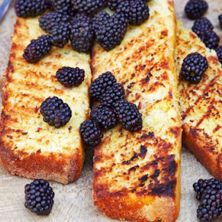 Grilled Lemon-Saffron Pound Cake.